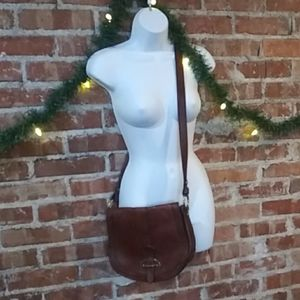 Fossil vintage crossbody hobo purse brown